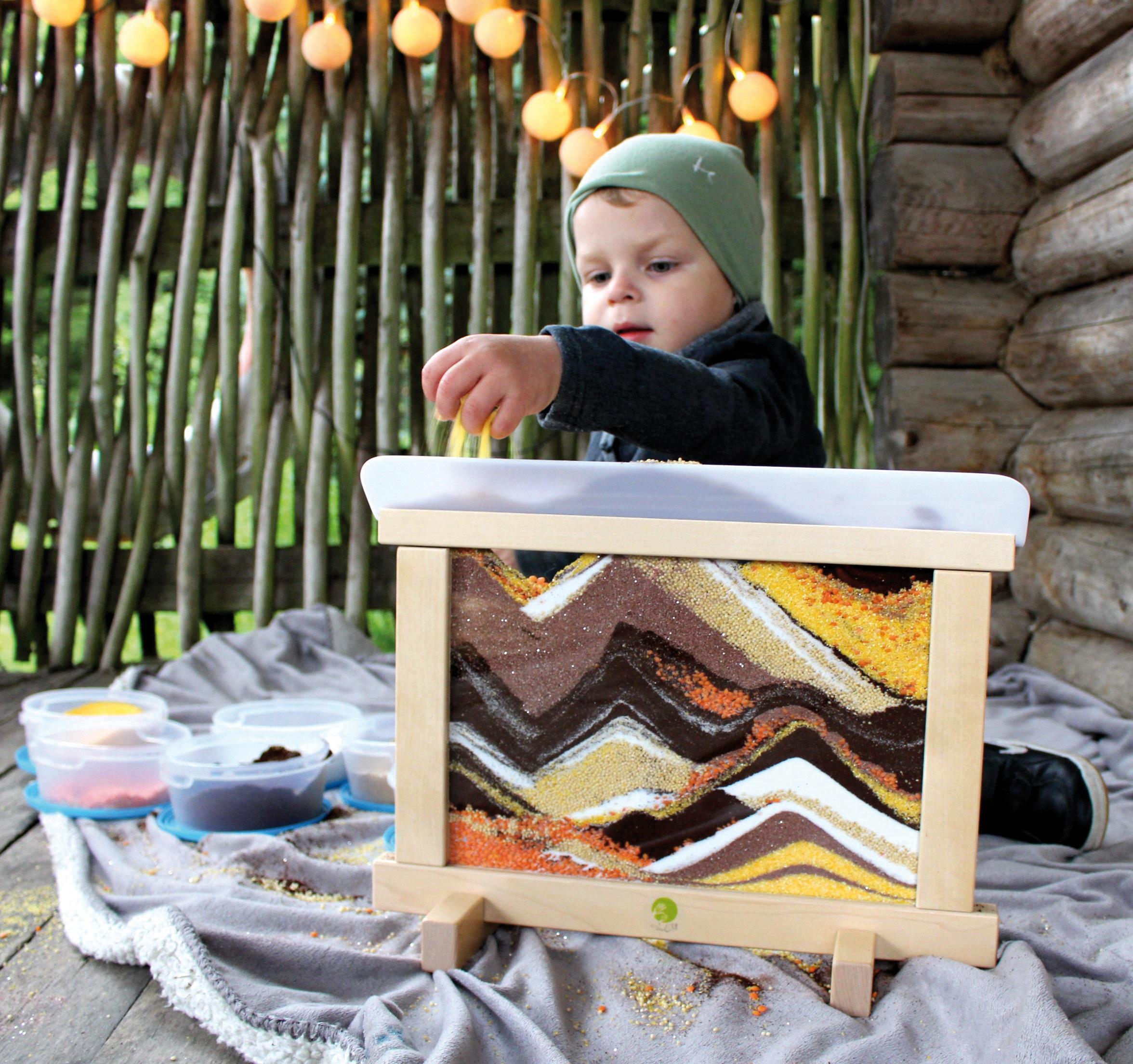 Kreativ-Rahmen mit Sand