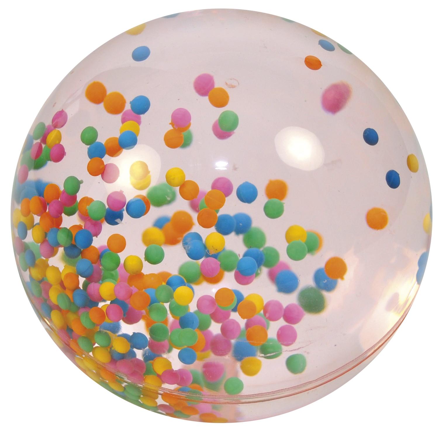 Riesenflummi Wasserball mit Kügelchen