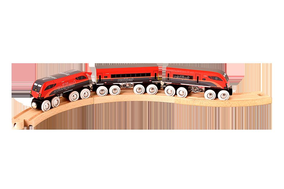 railjet Holzzug